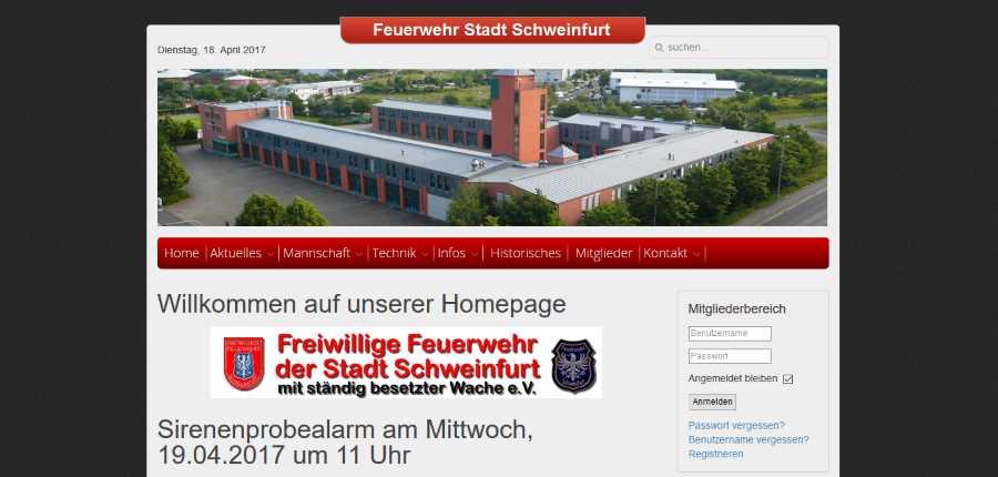 auf unserer homepage